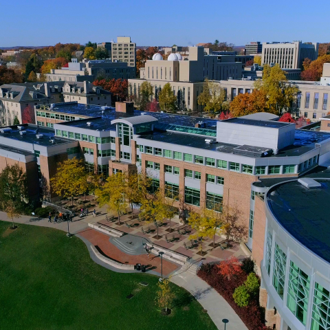 Drone Image of Hub Lawn