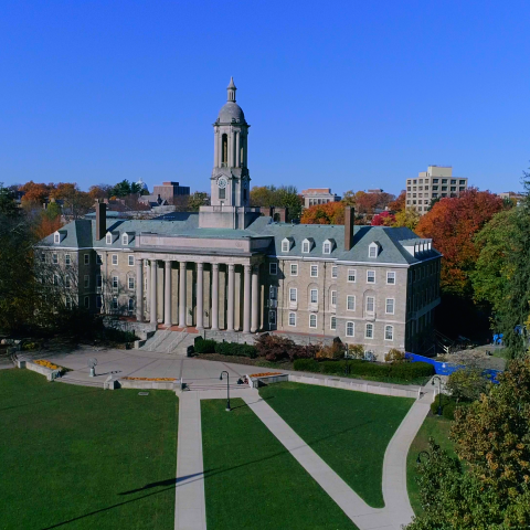 Drone Image of Old Main