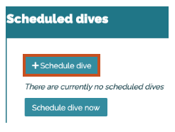 Schedule a dive in Bloop